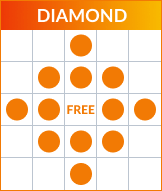 Bingo Diamond pattern