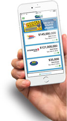 The lottery launches its first official mobile app allowing players to scan tickets from their phone to find out if they've won or not